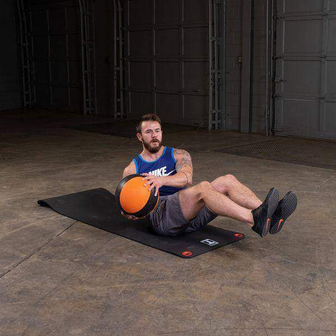 Image of 14lb. Medicine Ball - Orange/Black - Fitness Gear
