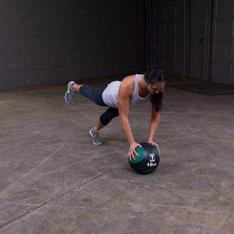 Image of 16lb. Medicine Ball - Green/Black - Fitness Gear