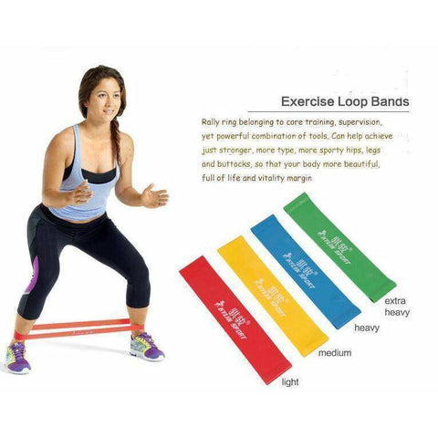 KYLIN 4 piece Resistance Loop Band - Fitness Gear