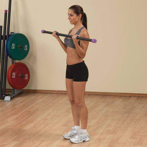 Image of 24LB Dark Purple Padded Weighted Bar - FitnessGearUSA.Com