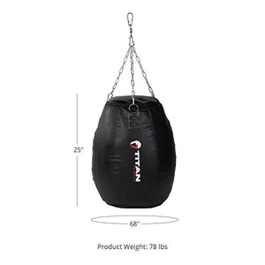 TITAN Fitness Power Strike Punching Bag, Mini Extra-Wide Body Bag, Heavy Bag for Punching and Kicking, Boxing, MMA, Muay - Fitness Gear