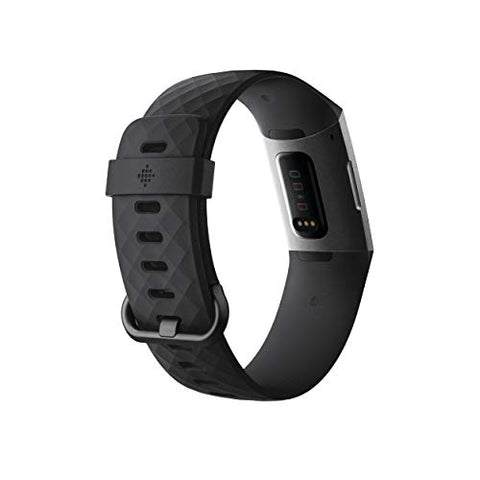 Image of Fitbit Charge 3 Fitness Activity Tracker, Graphite/Black, One Size (S and L Bands Included) - FitnessGearUSA.Com