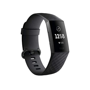 Fitbit Charge 3 Fitness Activity Tracker, Graphite/Black, One Size (S and L Bands Included) - FitnessGearUSA.Com
