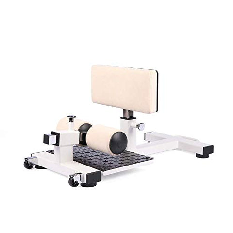 Image of HB Healthybros |Sissy Squat Machine -Withstand 440Ib - Squat & Leg Exercise for Strong Quads & Glutes (Beige) - Fitness Gear