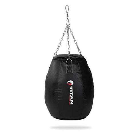Image of TITAN Fitness Power Strike Punching Bag, Mini Extra-Wide Body Bag, Heavy Bag for Punching and Kicking, Boxing, MMA, Muay - FitnessGearUSA.Com
