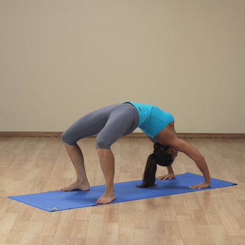 Image of 3mm Blue Body-Solid Yoga Mat - Fitness Gear