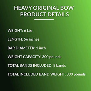 Gorilla Bow Portable Home Gym Resistance Band System, Weightlifting and HIIT Interval Training Kit, Full Body Workout Equipment (Green, Heavy Original Size) - FitnessGearUSA.Com