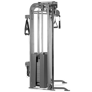 XMark Functional Trainer Cable Machine with Dual 200 lb Weight Stacks, 19 Adjustments, and Accessory Package XM-7626 (Gray) - FitnessGearUSA.Com