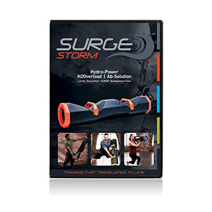 "Surge Storm 40 Water Filled Adjustable Weight Tube, Home Gym Equipment, 42"" - Black/Red - Fitness Gear"