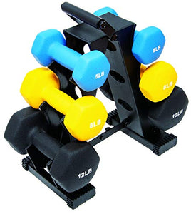 BalanceFrom 50-Pound All-Purpose Dumbbell Set with Weight Rack - FitnessGearUSA.Com