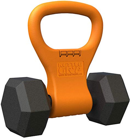 Image of Kettle Gryp - Kettlebell Adjustable Portable Weight Grip Travel Workout Equipment Gear for Gym Bag, Crossfit WOD, Weightlifting, Bodybuilding, Lose Weight | Clamps to Dumbbells | Made in U.S.A. - Fitness Gear