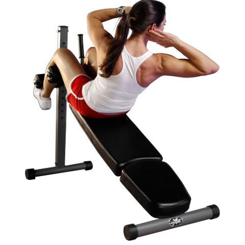 Image of XMark Adjustable Decline Ab Workout Bench for Sit Up, Crunches, Abdominal Muscles Exercise, 12-Position XM-7608 - Fitness Gear