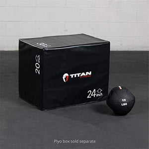 Titan Fitness 10 lb Dual Grip Medicine Ball Rubber Muscle Driver Sport Double - FitnessGearUSA.Com