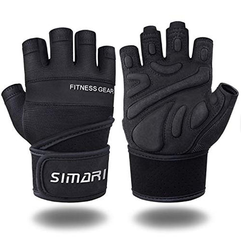 Image of SIMARI Workout Gloves Men Women Full Finger Weight Lifting Gloves with Wrist Support for Gym Exercise Fitness Training Lifts Made of Microfiber and Spandex Fiber SMRG902 - Fitness Gear