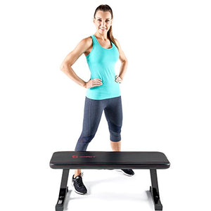 Marcy Flat Utility 600 lbs Capacity Weight Bench for Weight Training and Ab Exercises SB-315 - Fitness Gear