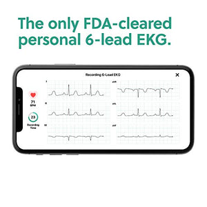 AliveCor KardiaMobile 6L | FDA-Cleared | Wireless 6-Lead EKG | Works with Smartphone | Detects AFib or Normal Heart Rhythm in 30 Seconds - Fitness Gear