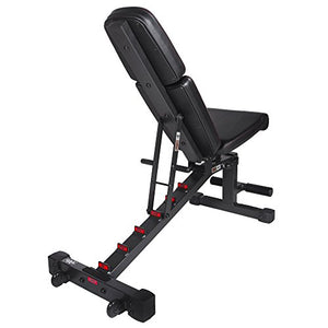 XMark Power Series Adjustable Flat Incline Decline Bench, 1500 lb. Wgt Capacity, 7 Back Pad Positions From Decline at -20 degrees To Incline of 85 degrees, and 3 Ergonomical Seat Pad Positions XM-9010 - FitnessGearUSA.Com