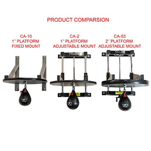 "Valor Fitness CA-2 Adjustable 1"" Boxing Speed Bag Platform with Wheel Crank for Easy Adjustment, Speed Bag Included - FitnessGearUSA.Com"