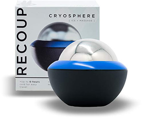 Image of Recoup Fitness Cryosphere Cold Massage Roller - 6 Hours Cold Relief - Ice Cup - Myofascial Release- Great for Recovery - Free Rolling Removable Ball - Deep Tissue Massage - Pain Relief - Ice Pack - Fitness Gear