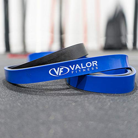 Image of Valor Fitness PRB-M-Blue Resistance Band for Pull Ups, Bench Presses, Squats, Deadlifts, and More - Size M - FitnessGearUSA.Com
