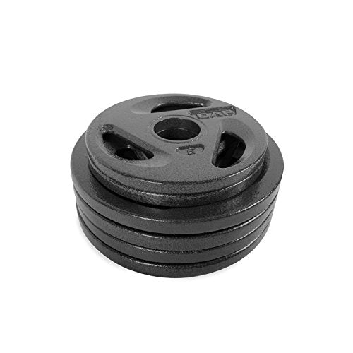CAP 50 Lb Olympic Weight Set 4-10 Lb Plates 2-5 Lbs Cast Iron Free Shipping