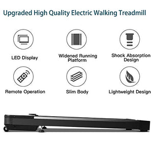 Goplus Under Desk Electric Treadmill, with Touchable LED Display and Wireless Remote Control, Built-in 3 Workout Modes and 12 Programs, Walking Jogging Machine for Home/Office - Fitness Gear