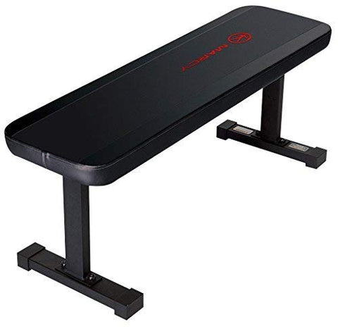 Image of Marcy Flat Utility 600 lbs Capacity Weight Bench for Weight Training and Ab Exercises SB-315 - Fitness Gear