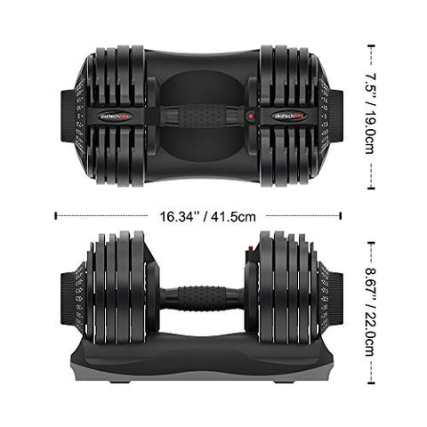 ATIVAFIT Adjustable Dumbbell 71.5 Pounds Fitness Dial Dumbbell with Handle and Weight Plate for Home Gym Note: Single