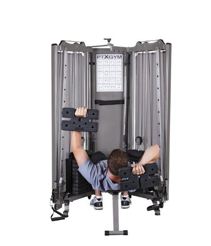 Image of HCI Fitness PTX Gym Folding Functional Trainer Compact Home Gym - FitnessGearUSA.Com