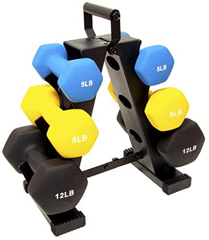 BalanceFrom 50-Pound All-Purpose Dumbbell Set with Weight Rack