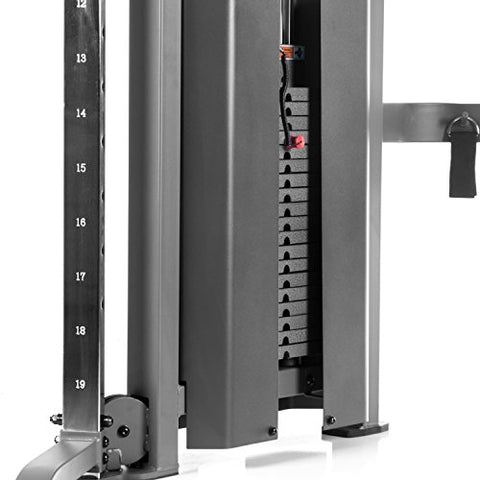 Image of XMark Functional Trainer Cable Machine with Dual 200 lb Weight Stacks, 19 Adjustments, and Accessory Package XM-7626 (Gray) - FitnessGearUSA.Com