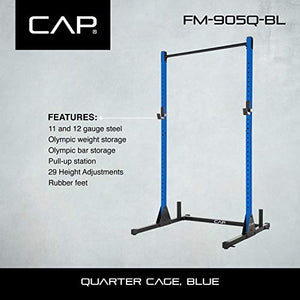 CAP Barbell Power Rack Exercise Stand, Blue