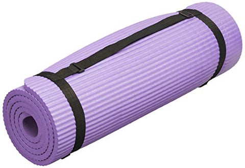 "Image of BalanceFrom GoYoga 7-Piece Set - Include Yoga Mat with Carrying Strap, 2 Yoga Blocks, Yoga Mat Towel, Yoga Hand Towel, Yoga Strap and Yoga Knee Pad (Purple, 1/2""-Thick Mat) - Fitness Gear"