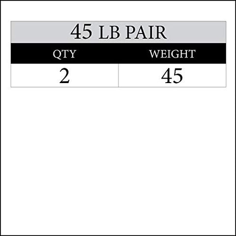 Image of XMark Black Diamond 45 lb Olympic Weight Plates, Patented Design, One Pair - Fitness Gear