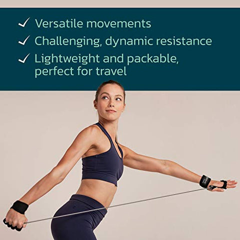 Image of P.volve Signature Kit with Workout Ball, and Resistance Bands for at Home Workouts and Fitness (Gray) - Fitness Gear