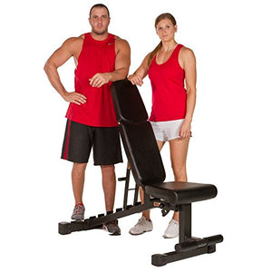XMark Power Series Adjustable Flat Incline Decline Bench, 1500 lb. Wgt Capacity, 7 Back Pad Positions From Decline at -20 degrees To Incline of 85 degrees, and 3 Ergonomical Seat Pad Positions XM-9010 - Fitness Gear