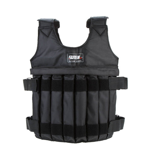 SUTEN 20kg/50kg Loading Weighted Vest For Boxing Training Workout Fitness Equipment Adjustable Waistcoat Jacket Sand Clothing - Fitness Gear
