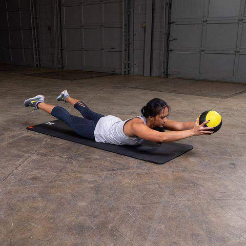 Image of 4lb. Medicine Ball - Yellow/Black - Fitness Gear