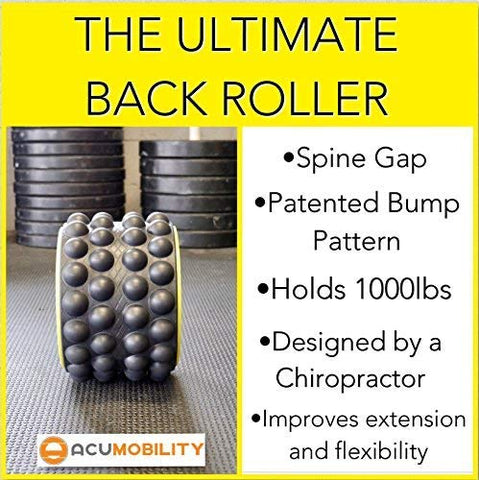 Image of The Ultimate Back Roller : Acumobility, myofascial Release, Trigger Point, Yoga Wheel, Foam Roller, Back Pain, Yoga Wheel for Back Pain, Back Massager, deep Tissue, Massage, Exercise, Mobility - Fitness Gear