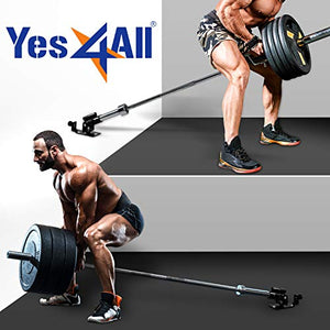 "Yes4All Deluxe T-Bar Row Platform – Full 360° Swivel & Easy to Install – Fits 1"" Standard and 2"" Olympic Bars - Fitness Gear"