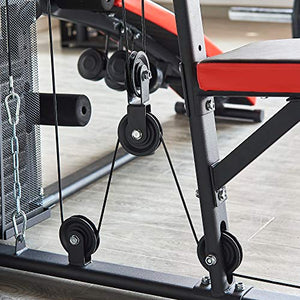 BalanceFrom RS 90XLS Home Gym System Multiple Purpose Workout Station with 380LB of Resistance, 145LB Weight Stack, Comes with Installation Instruction Video - FitnessGearUSA.Com