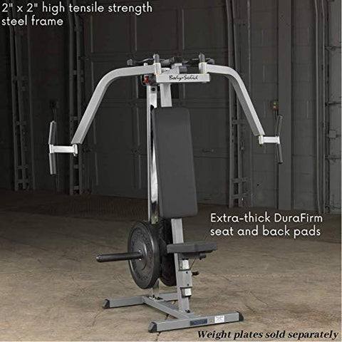 Image of Body-Solid GPM65 Plate Loaded Pec Machine for Chest, Back, and Shoulder Training and Workouts - Fitness Gear
