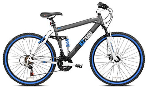 Image of Kent KZ2600 Dual-Suspension Mountain Bike, 26-Inch - FitnessGearUSA.Com
