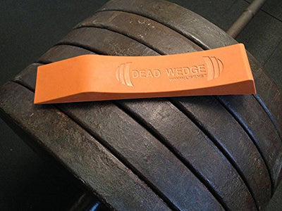 Dead Wedge The Deadlift Jack Alternative for Your Gym Bag - Raises Loaded Barbell & Plates for Effortless Loading/Unloading. (Orange) - FitnessGearUSA.Com