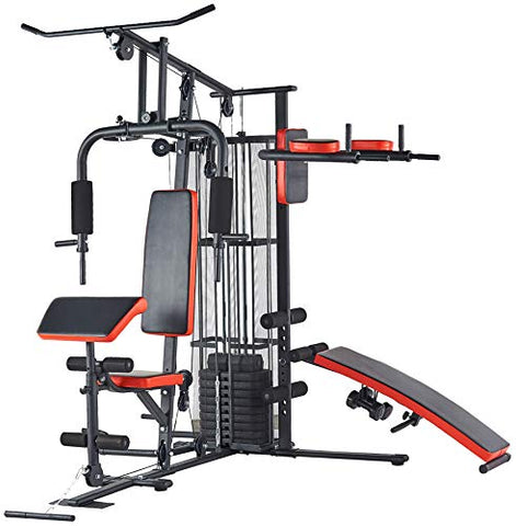 Image of BalanceFrom RS 90XLS Home Gym System Multiple Purpose Workout Station with 380LB of Resistance, 145LB Weight Stack, Comes with Installation Instruction Video - FitnessGearUSA.Com
