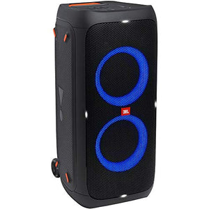 JBL PartyBox 310 Portable Bluetooth Speaker (Party Lights) Bundle with Vocal Microphone, XLR Barrel Adapter & XLR Cable - Fitness Gear