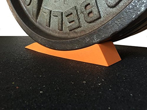Image of Dead Wedge The Deadlift Jack Alternative for Your Gym Bag - Raises Loaded Barbell & Plates for Effortless Loading/Unloading. (Orange) - FitnessGearUSA.Com