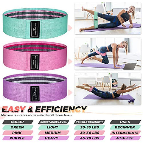 Image of Renoj Booty Bands, Exercise Bands for Legs and Butt, Resistance Bands Set【3 Levels】 - FitnessGearUSA.Com