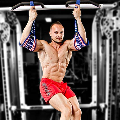 DMoose Fitness Hanging Ab Straps for Abdominal Muscle Building and Core Strength