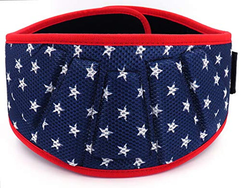 Image of Fitplicity Weight Lifting Belt (Old Glory, Small) - Fitness Gear